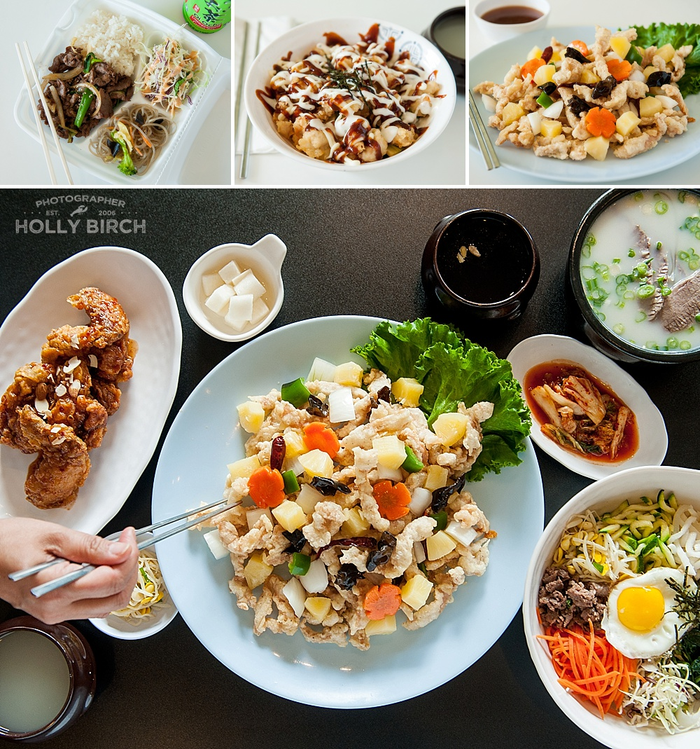 Korean dishes from San Maru in Village at the Crossing Champaign