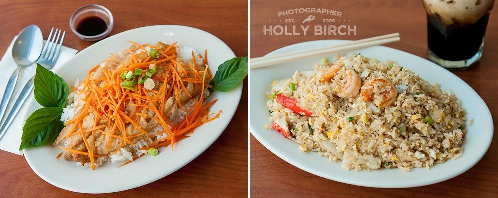 Angel fish and seafood fried rice from Basil Thai Urbana