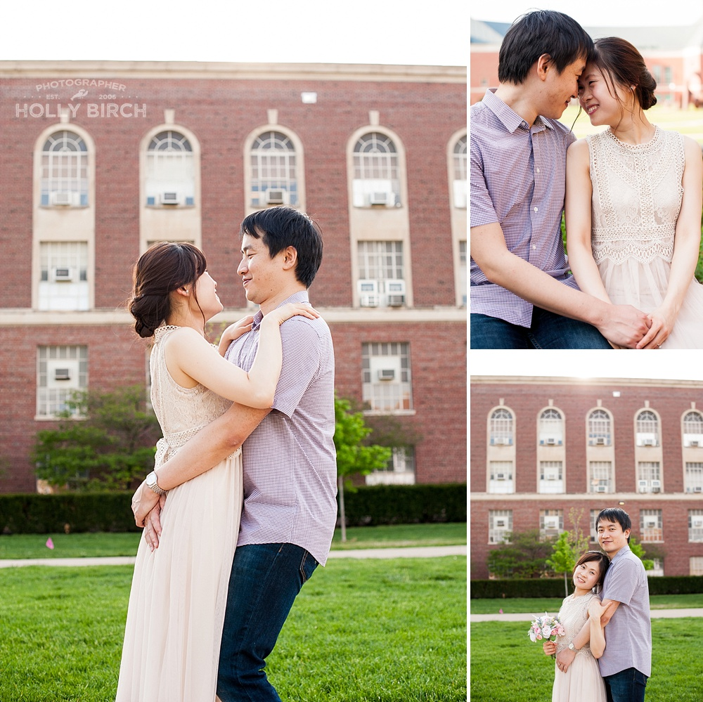 Engineering Quad engagement photos