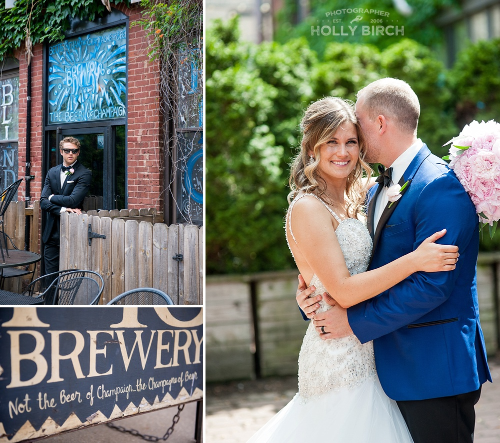 Blind Pig beer garden wedding photos