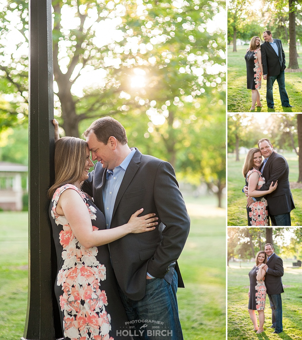 dusk engagement photos in Champaign