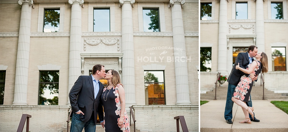 architecture engagement photos in Champaign