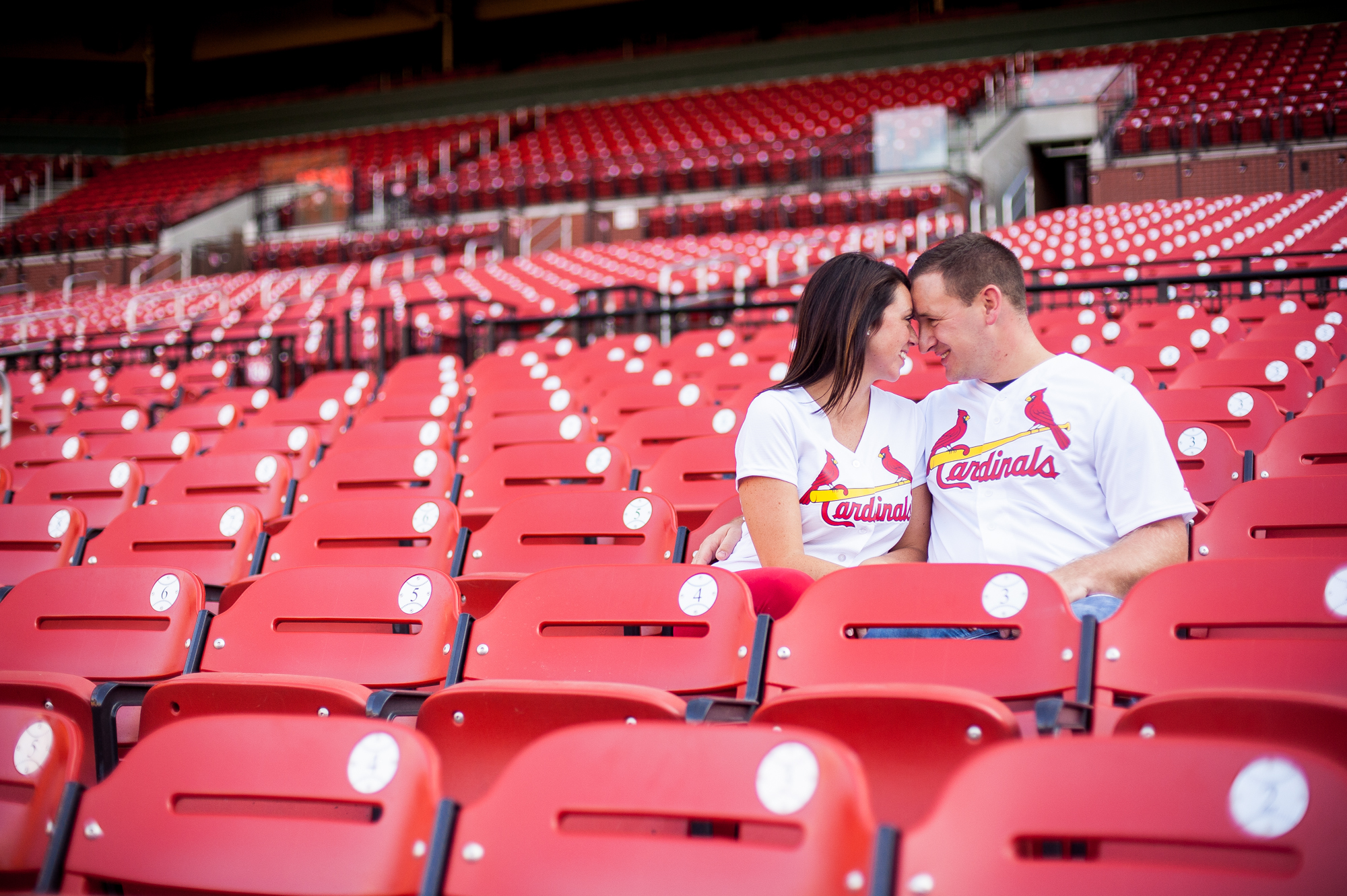 St. Louis Cardinals fans engagement photos