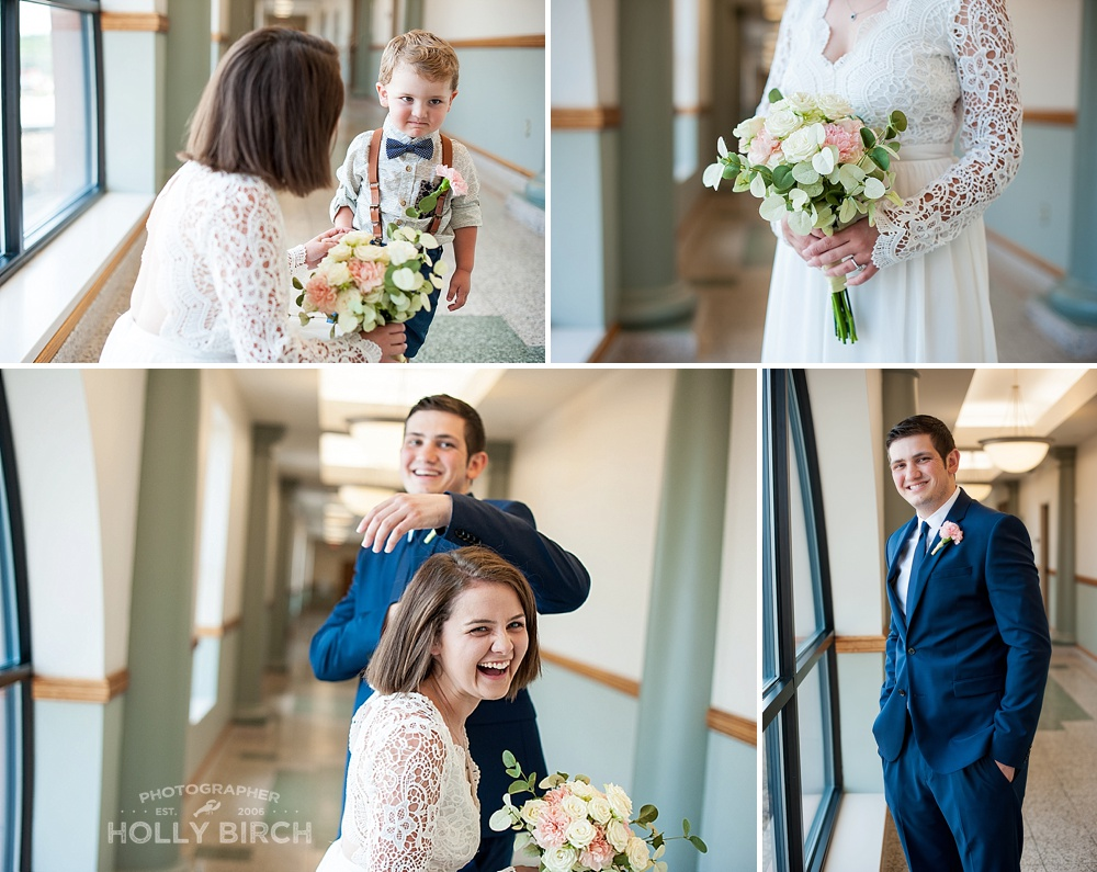 sweet couple moments at courthouse elopement