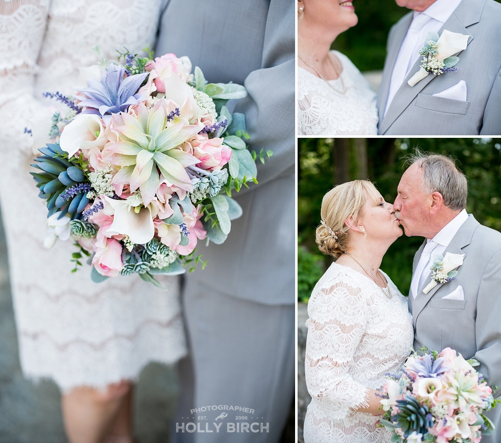 beautiful lavender green succulent bouquet