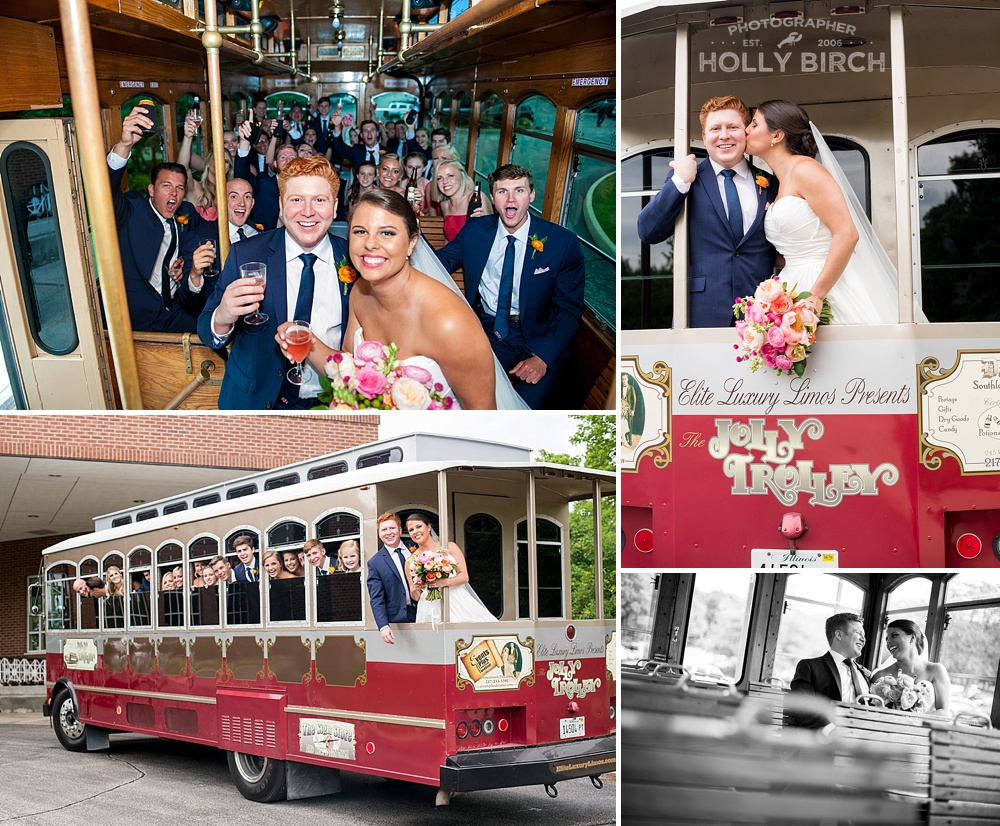 Elite Trolley wedding party