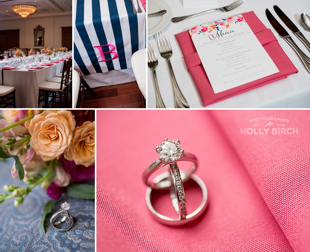 pink wedding details inspired by Lilly Pulitzer