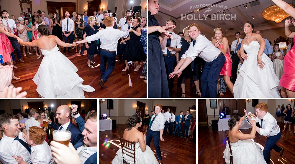 candid fun photos on wedding night dance floor