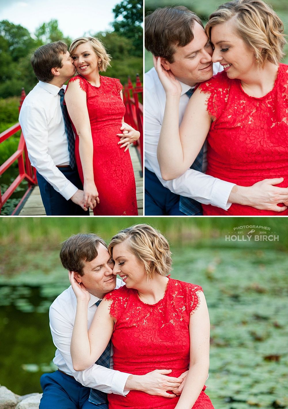 romantic engagement photo session
