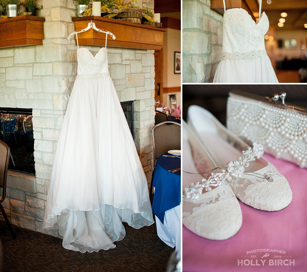 bride's dress shoes and jewelry