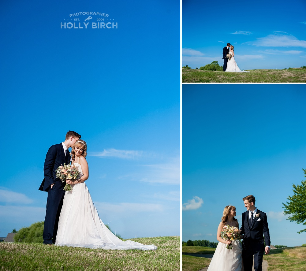 wedding day beautiful blue skies