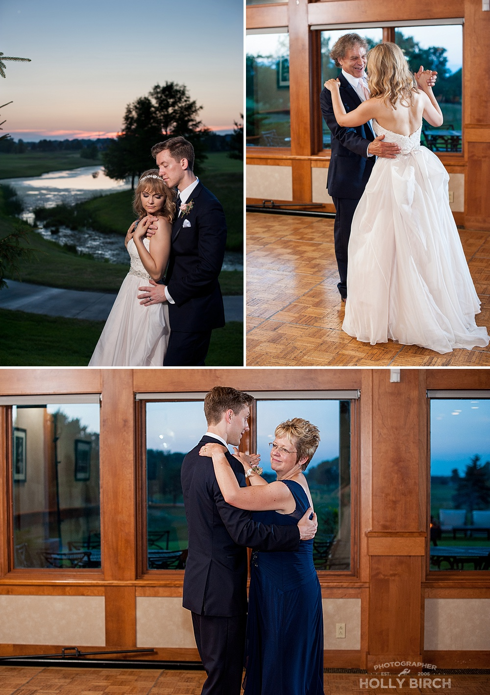 parent first dances and sunset