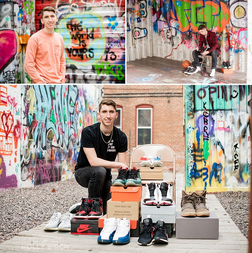 senior shoe fanatic ideas for senior session