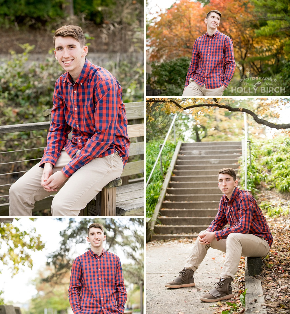 fall senior boy photo session ideas