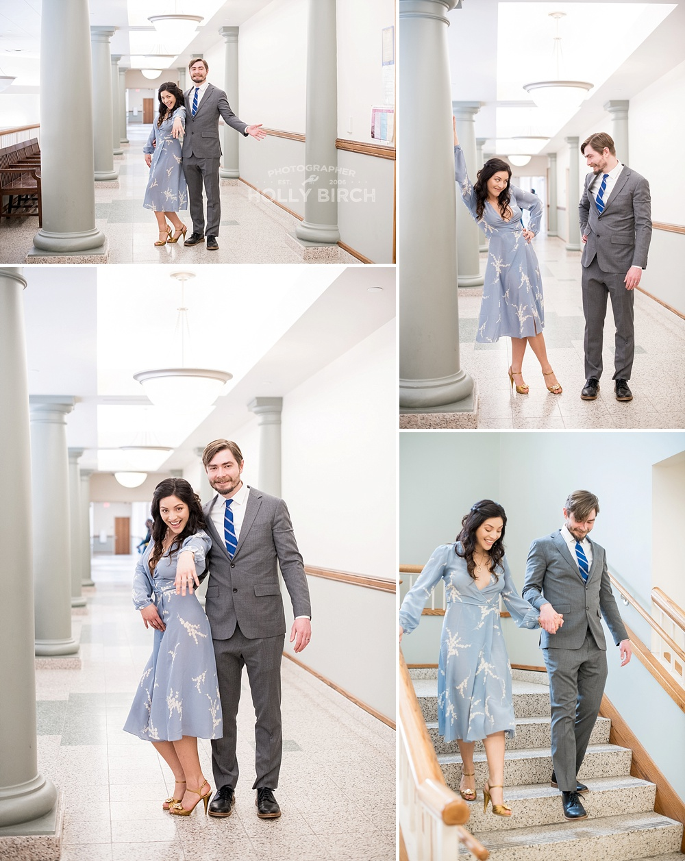 fun couple courthouse wedding