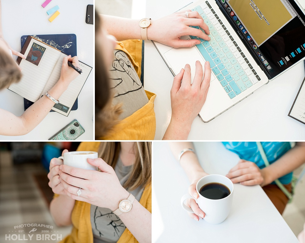 brand photography for online-based course
