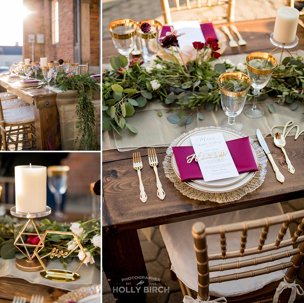Jewel toned styled wedding shoot