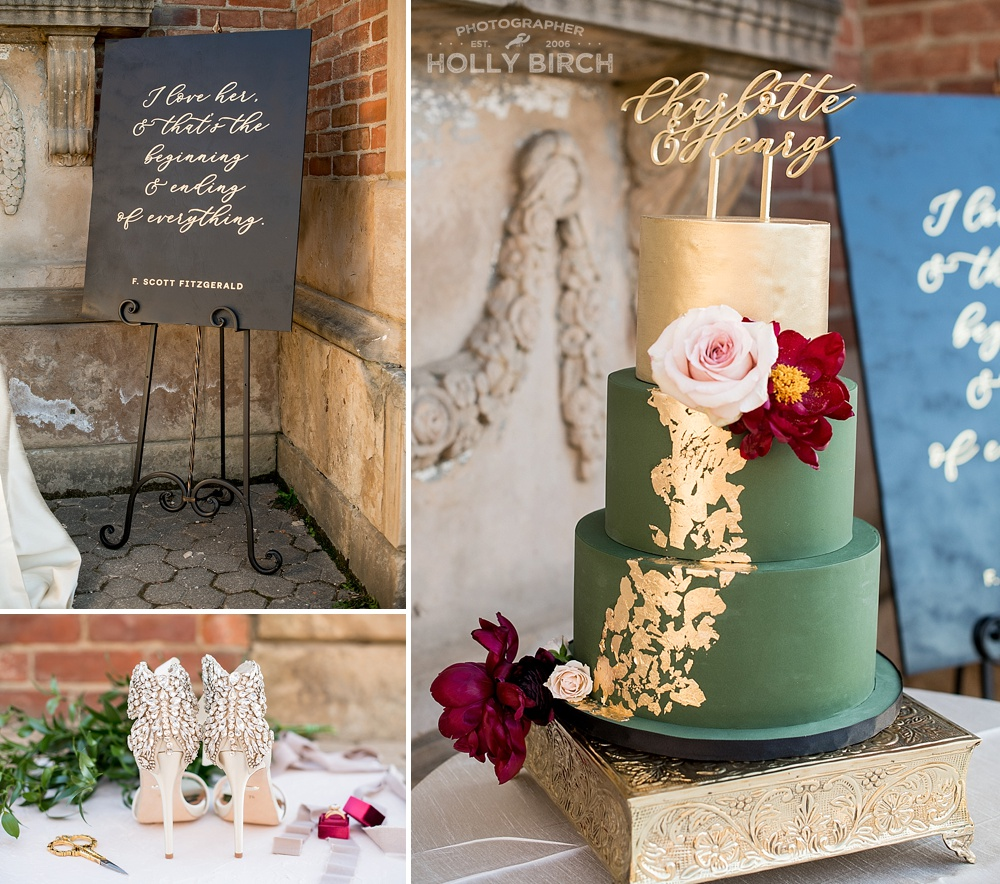 F. Scott Fitzgerald inspired wedding cake