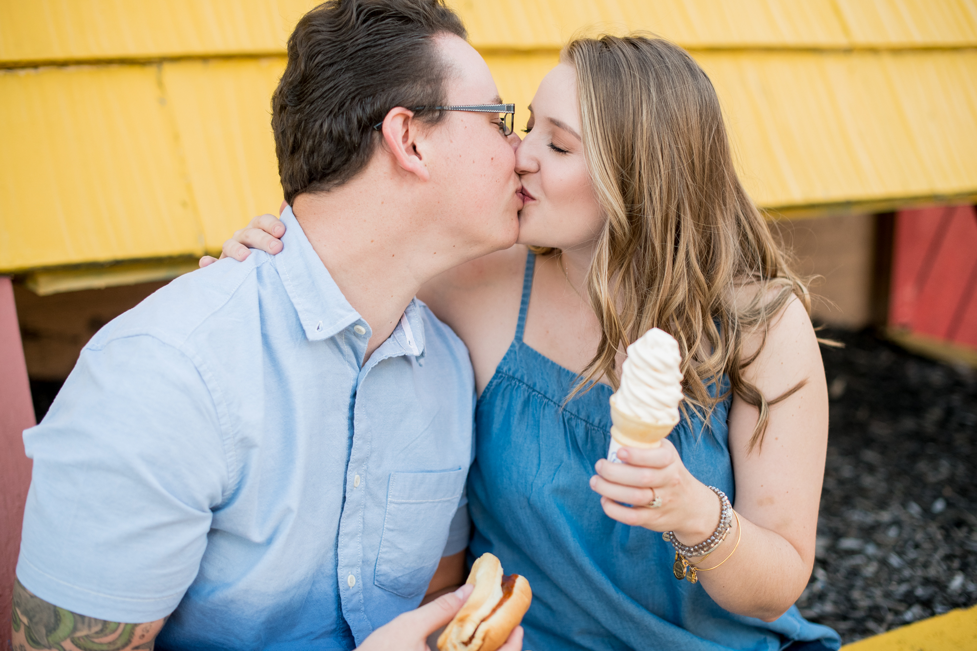 ice cream engagement session