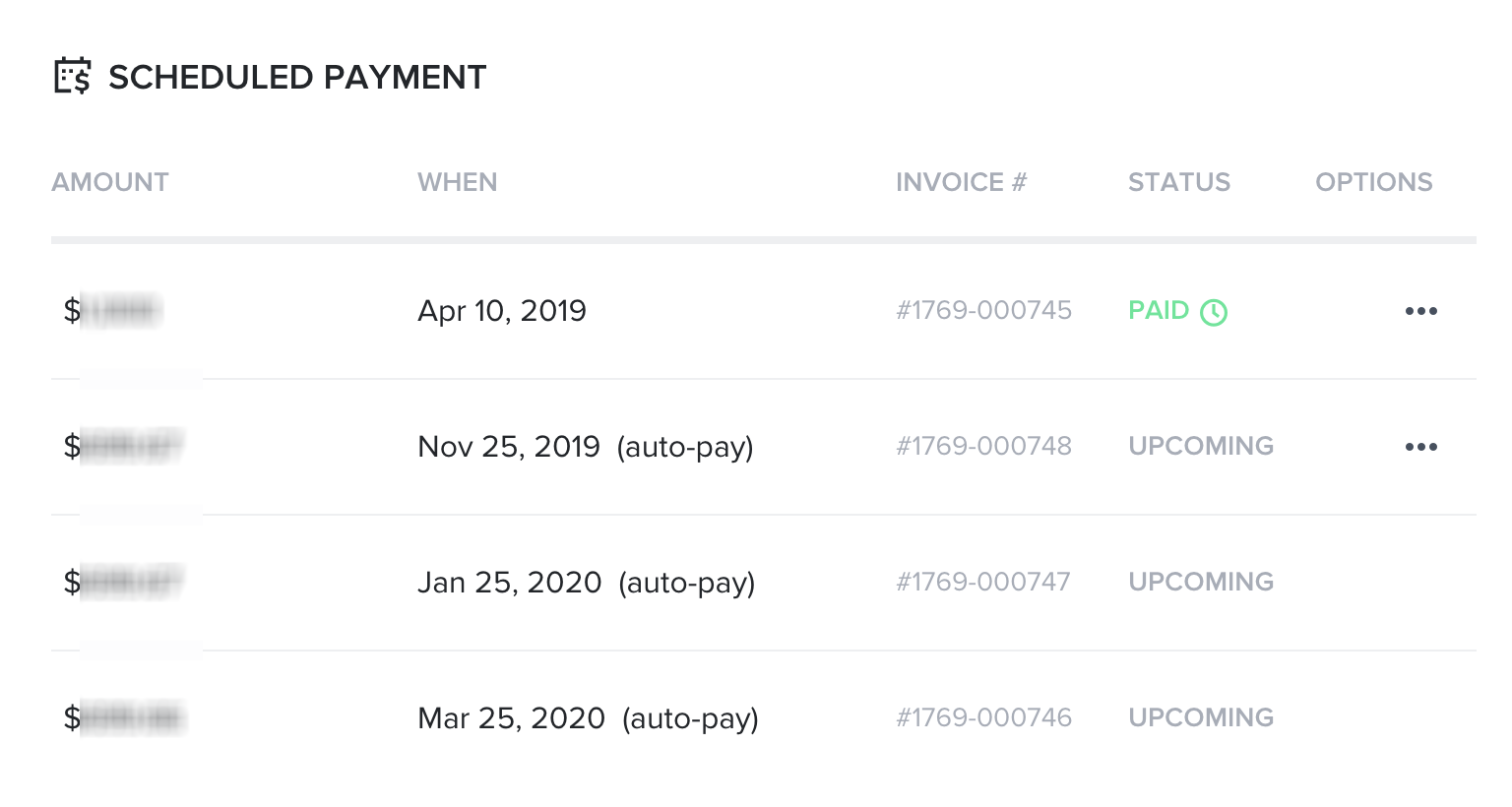 payment schedules with auto-pay in Honeybook