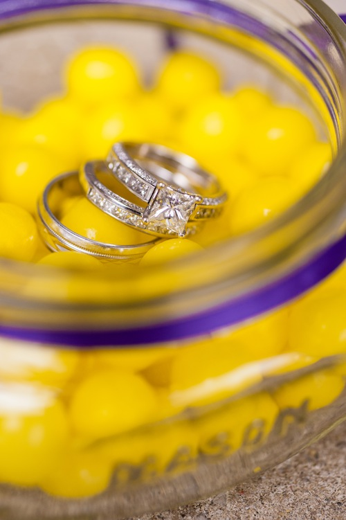Lemonheads yellow ring photo in Mason jar