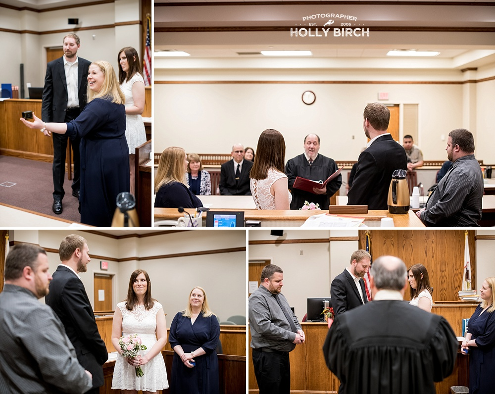 Judge Rosenbaum marries a couple at the Champaign County courthouse