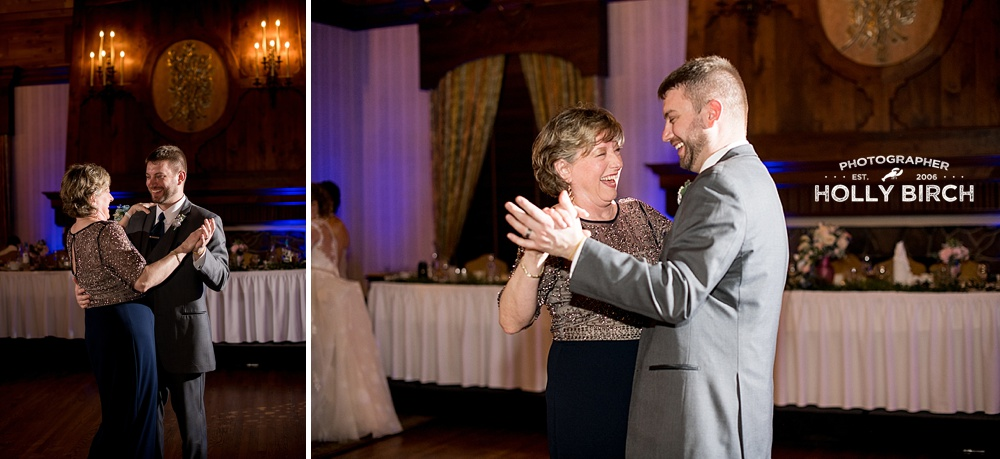 mother-son dance with off-camera flash