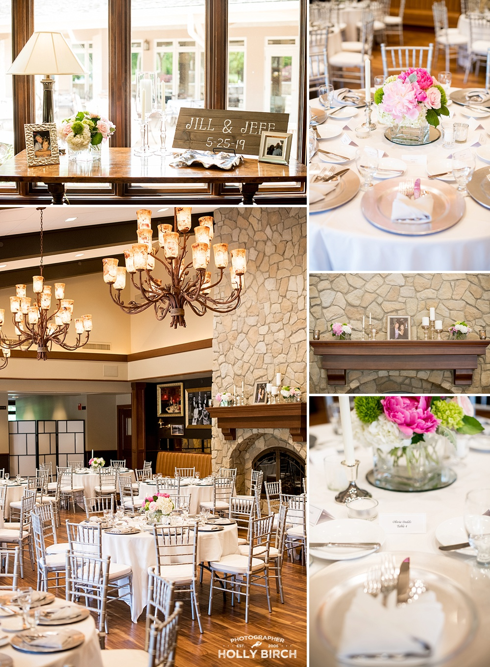 intimate wedding reception at the Urbana Country Club