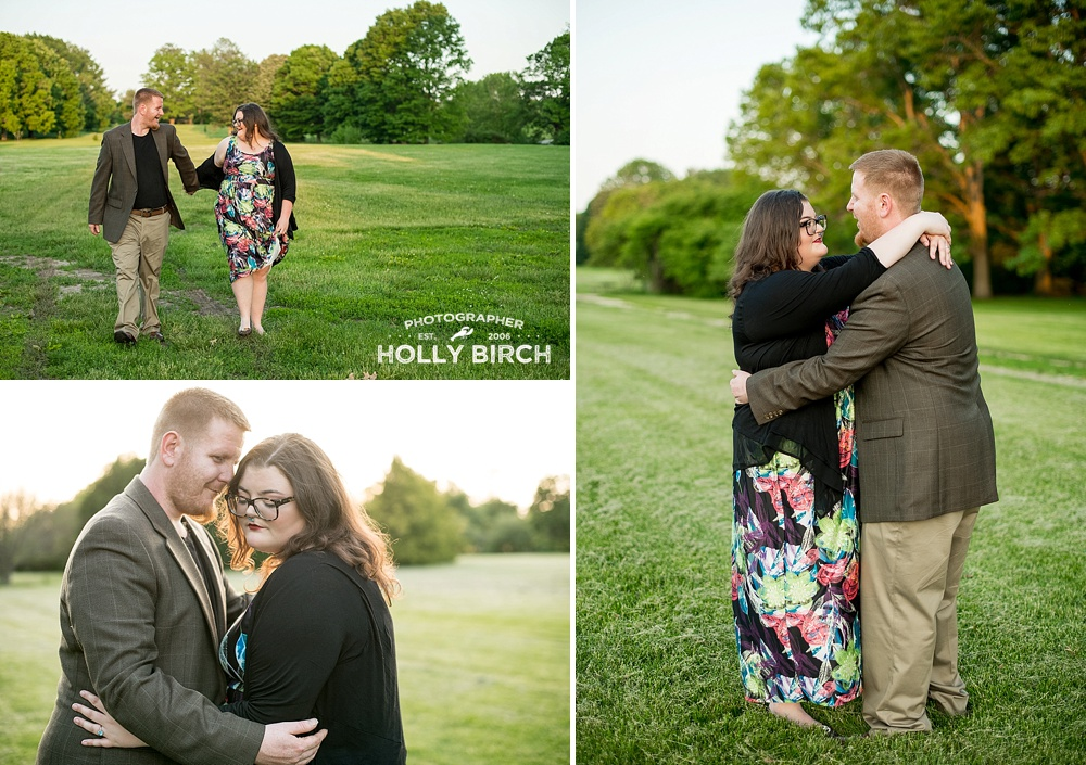 romantic engagement session in park