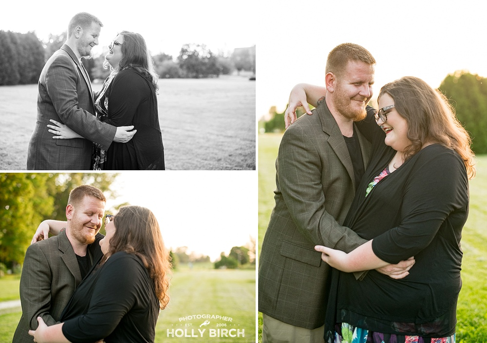 University of Illinois arboretum engagement photos