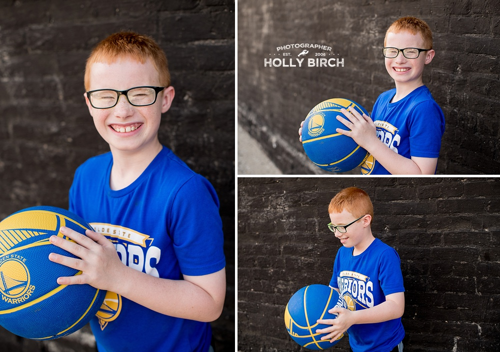 nine-year-old basketball photo session