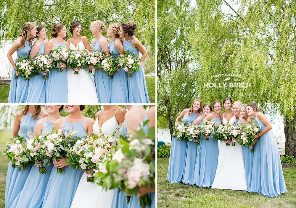 dusty blue bridesmaid dresses from Azazie