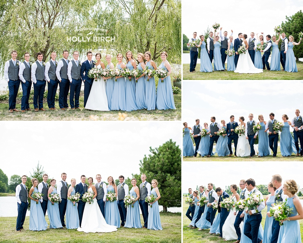 wedding party together at Willow Creek Farm