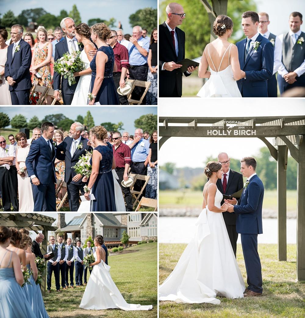 beautiful outdoor wedding ceremony in Urbana
