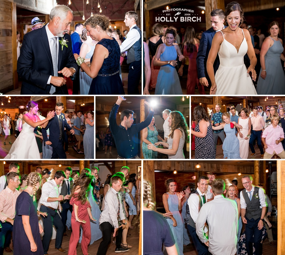 fun guests dancing photos with colorful lights