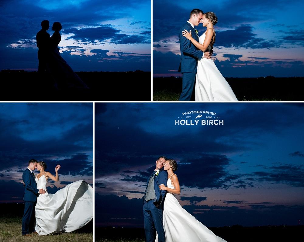 sundown photos of bride and groom with MagMod