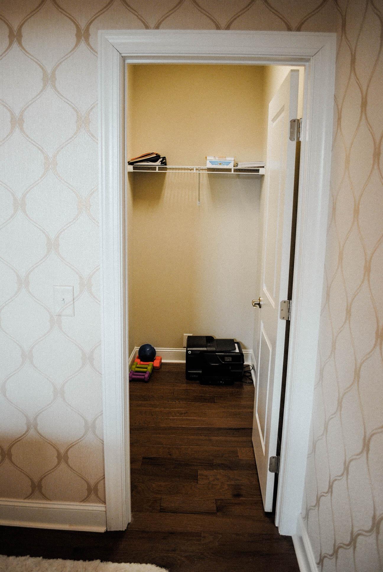 The closet AFTER!