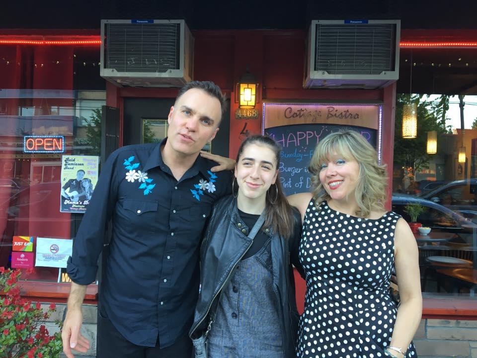 Maya Rae, Reid Jamieson and Carolyn Mills