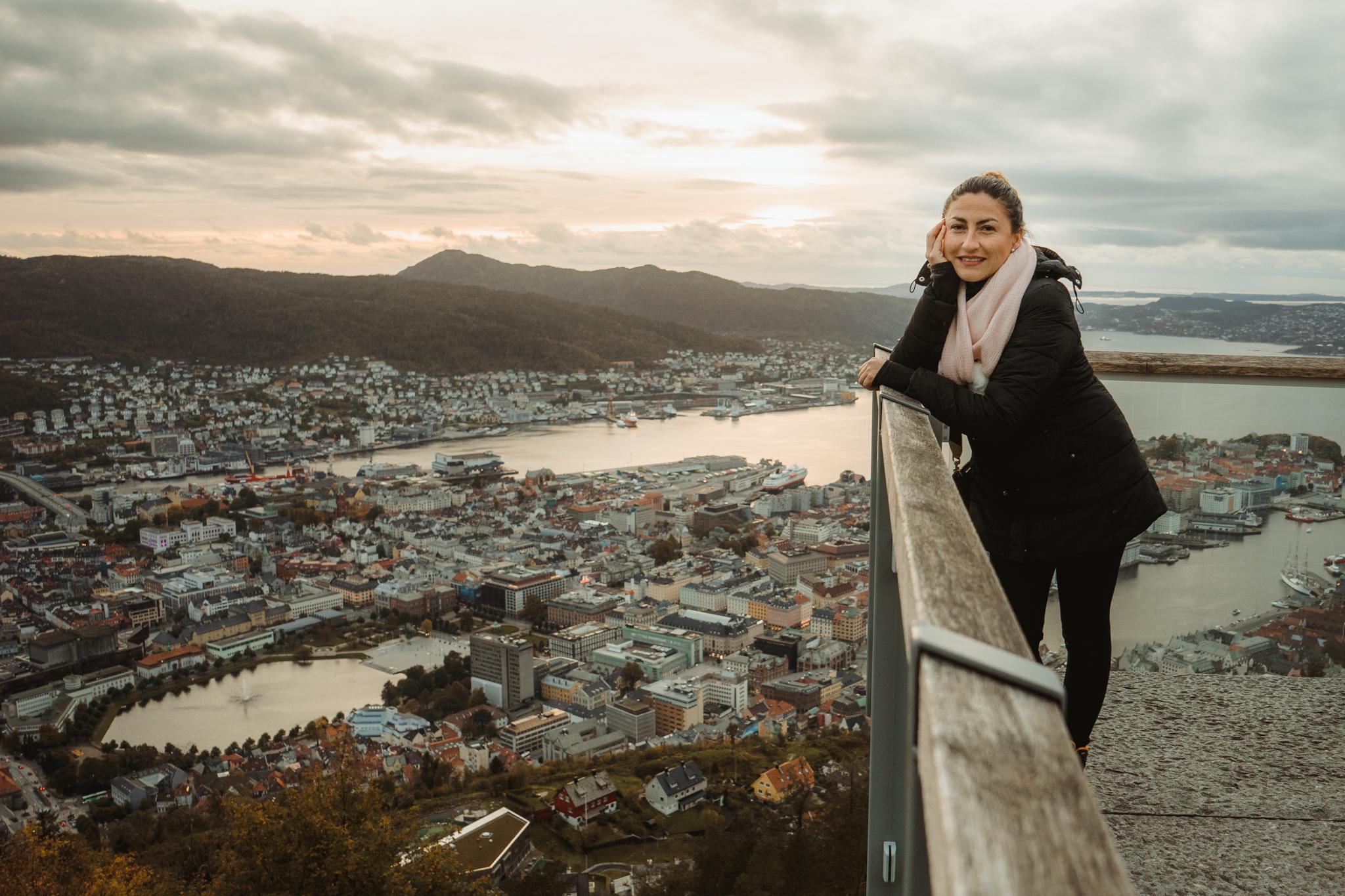 Vista desde el mirador de Bergen.