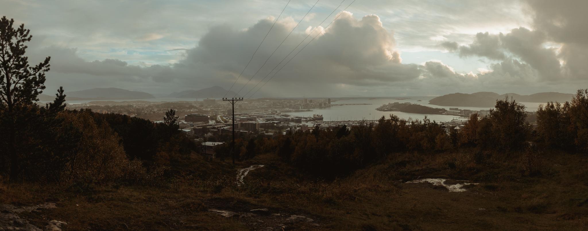 Panorámica del puerto de   Bodø  .
