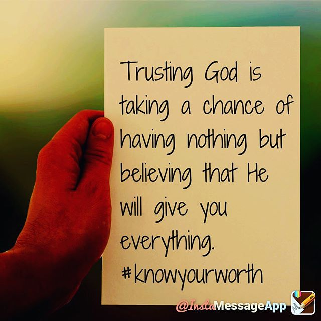 """Actively trusting God will produce an active belief that """"it will happen"""". #worthitgeneration"""