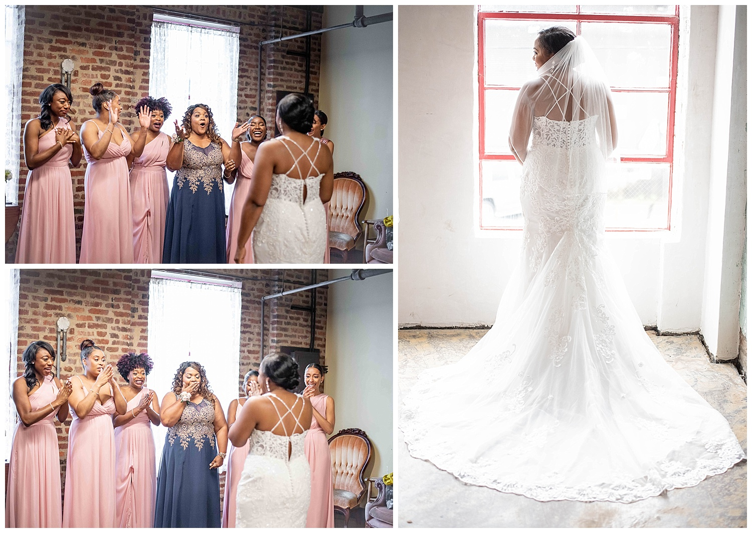 Just look at how Aquilla's mom and bridesmaids reacted to seeing her in that dress!