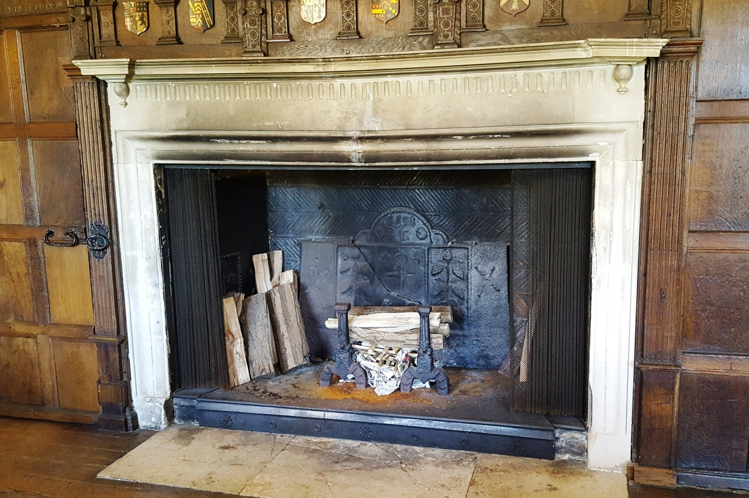 Original 1588 fire back in the Great Hall