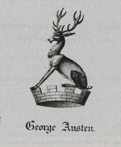 George Austen's bookplate