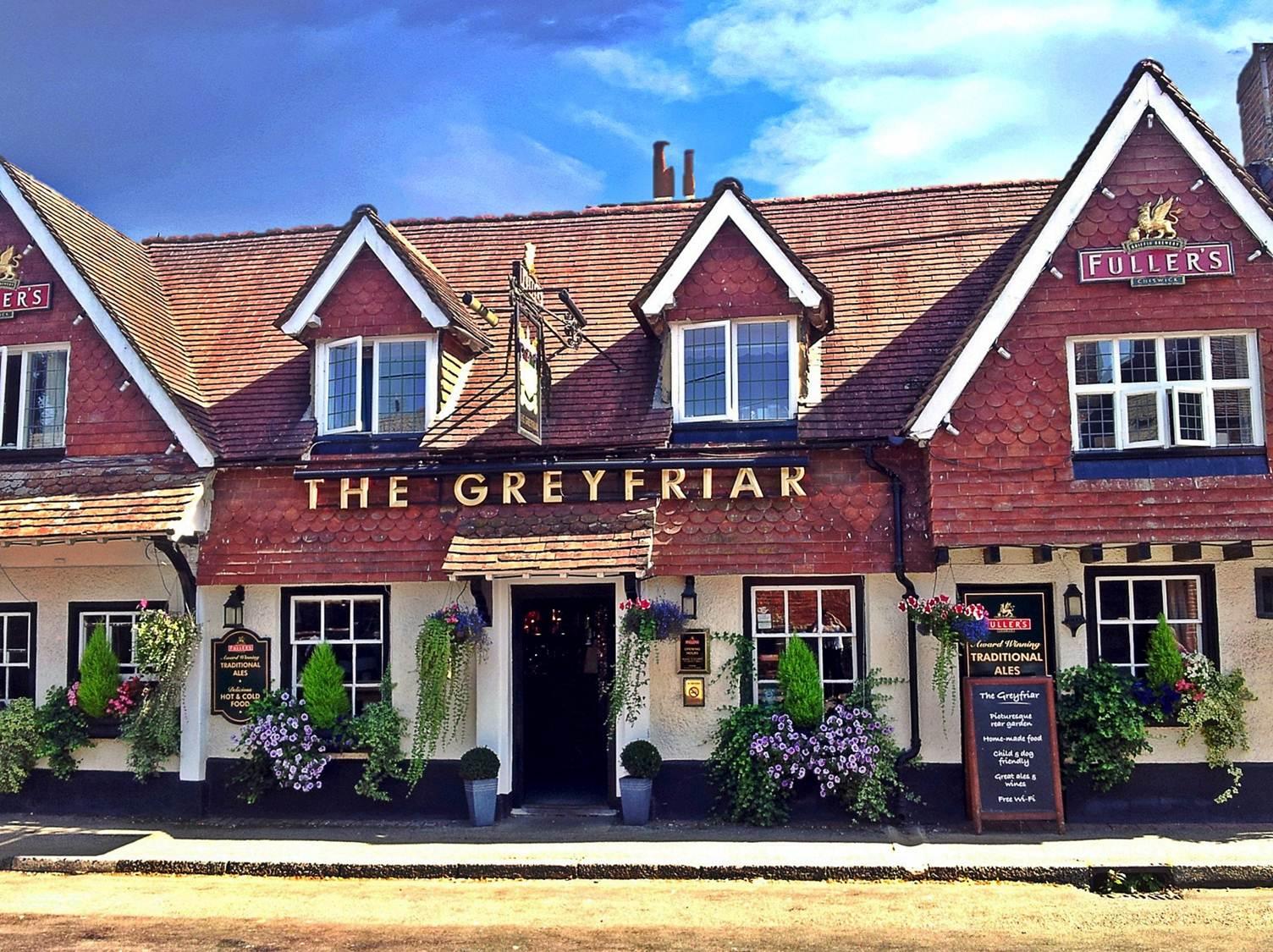 The sixteenth century Greyfriar Pub, in the village of Chawton