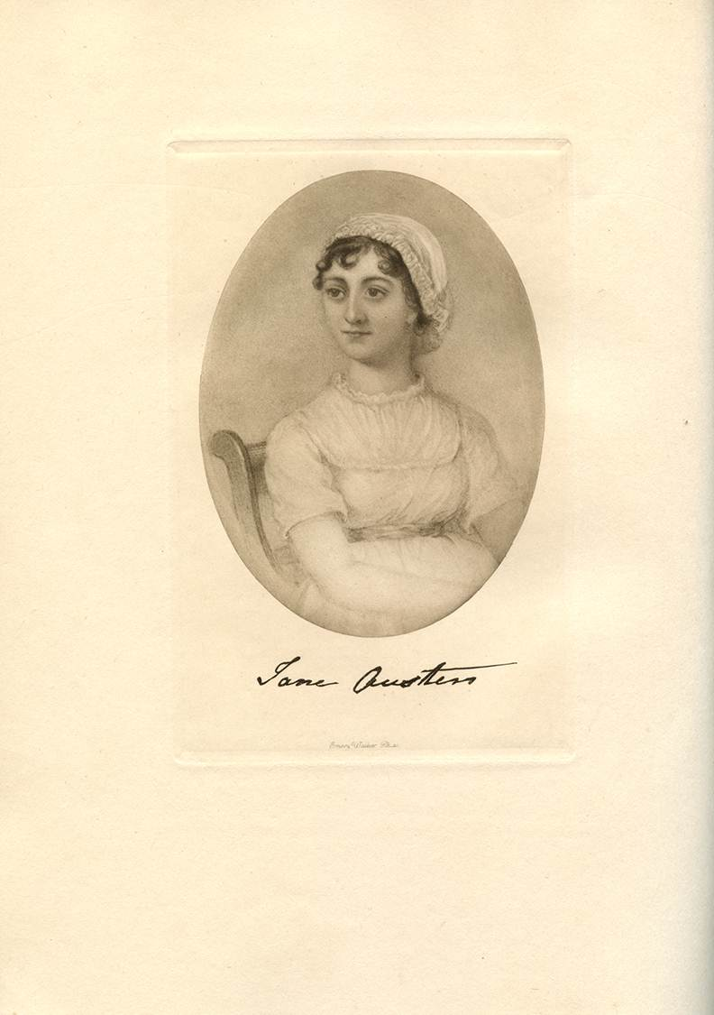 Jane Austen as shown in ' Chawton Manor and It's Owners - A Family Record ' by Montagu George Knight and William Austen Leigh, 1911.  Image copyright: Caroline Jane Knight