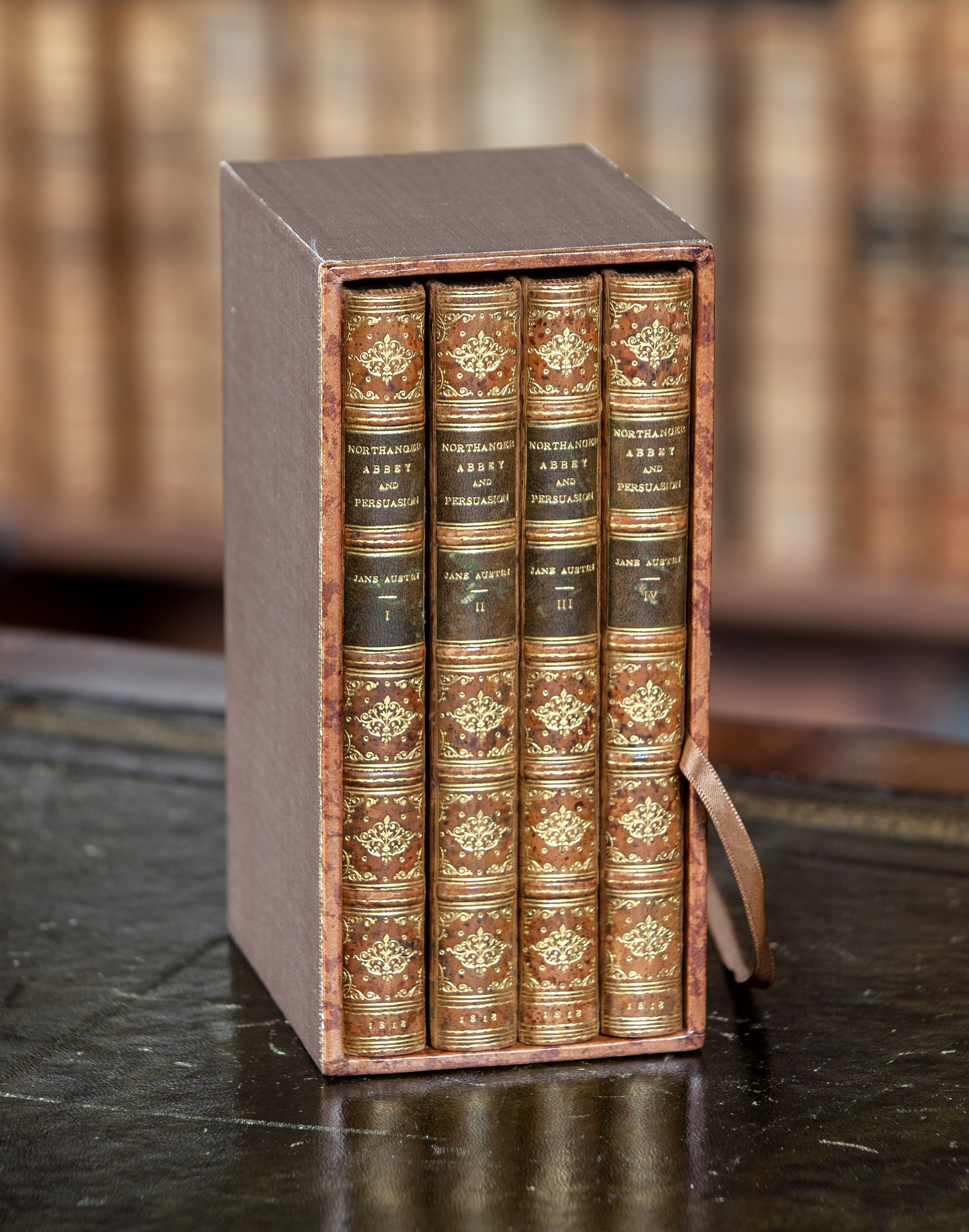 Northanger Abbey first edition in the lower reading room at Chawton House (photo courtesy of Chawton House Library)