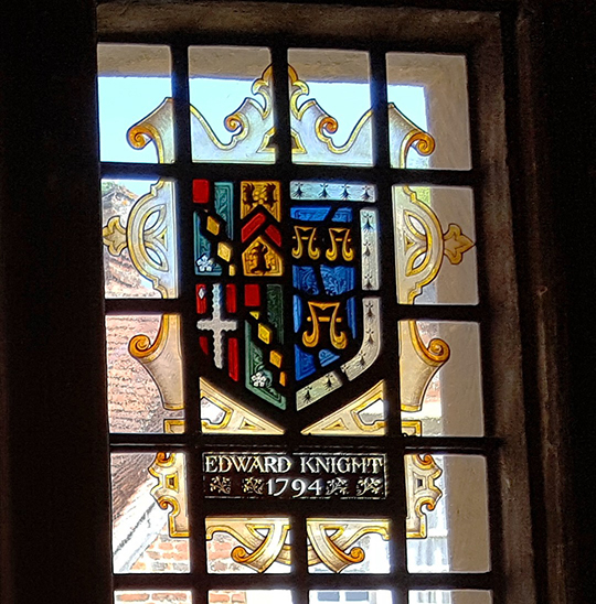 Edward (Austen) Knight's heraldic shield at Chawton House
