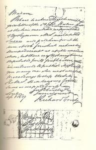 Photo of ms autograph copy of Crosby's letter (Photo: reveriesunderthesignofausten.wordpress.com)
