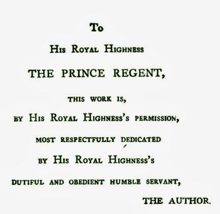 Jane Austen's dedication of  Emma  to the Prince Regent